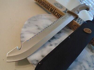 "Colombian Warrior Raptor Machete Sword Knife Saw Hook Full Tang 3234 3Cr13 18"" 4"