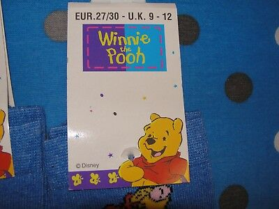 Winnie The Pooh Disney Socks - 8 Pair - Size Eur 27/30 Uk 9 - 12 2