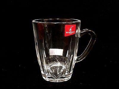 BULK  6 Pieces  Coffee  Tea Glass Mug Tumbler with Handle 235ml  New (L)
