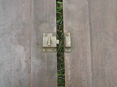 """Antique Vintage Pair Cabinet Doors from Old School Chemistry Lab 30"""" Tall 11"""