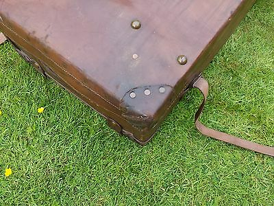 1920s Leather Steamer Trunk 5