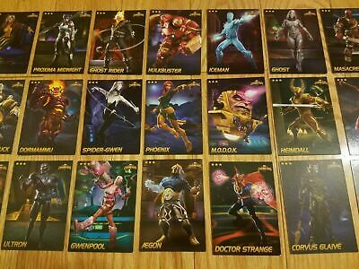 Choose! All $5.00 Each Marvel Contest of Champions Cards Rare Non-Foil Cards 3