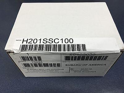 OEM 2013-2018 Subaru BRZ Red Interior Footwell Illumination Kit NEW H701SCA000