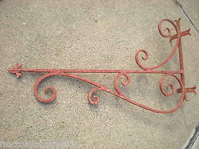 "SALE Large 55"" 1800s Antique Wrought Iron Sign Bracket Cream City Brick Milwauke 6"