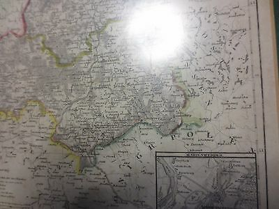 Original  Landkarte Provinz West-Preussen  1849  gerahmt