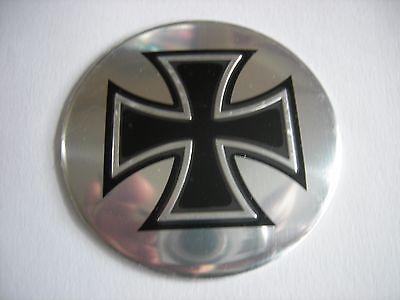 4pcs Aluminum Maltese Cross 1813 Wheel Center Hub Cap Badge Emblems Sticker 56mm