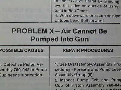 Crosman 454 /& 1600 Service Manual With Exploded View