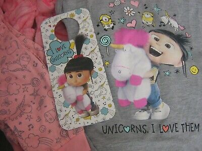 Despicable Me3 Pjs And Robe 5-6 Years With Door Hanger ( Bnib ) 2