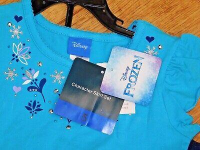 Disney Frozen Little Girls 2-Piece Elsa T shirt & Scooter Skirt Set OFFICIAL DIS 10