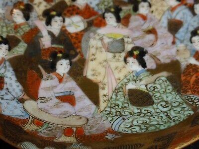 "Antique Japanese Kutani Porcelain GEISHAS Cup Signed ""Dai Nippon Nakamura"" 8"