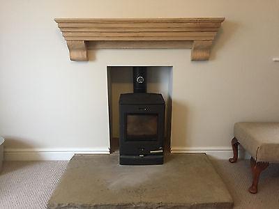 Fireplace shelf, Over cooker shelf, AGA shelf with corbels, solid prime oak 3