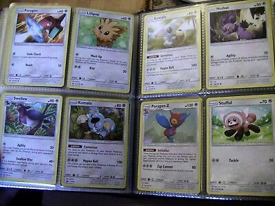full Folder sun & moon pokemon cards huge bundle no doubles lots rare/holo/GX 2 11
