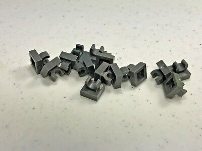 Lego 100 New Black Tiles Modified 1 x 1 with Clip Rounded Edges Pieces