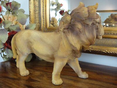 Deko Figur Löwe 32,5 cm Königslöwe Gartenfigur Skulptur Statue Raubkatze Lion