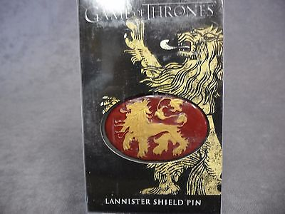 BOXED Game of Thrones Shield Pin NEW Lannister