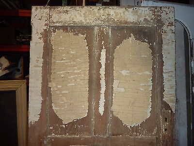 """LATE 18th century ANTIQUE colonial FOUR panel DOOR paint PATINA 78 x 35"""" x 1.25 3"""