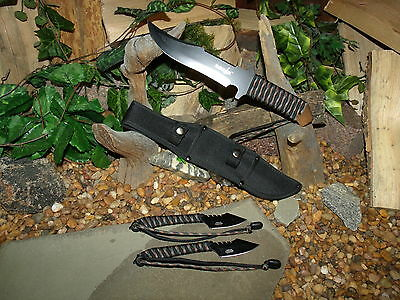Knife/Blade/Bowie/Harpoon/Spear/Full tang/Zombie/Paracord 550 MINI survival kit 2
