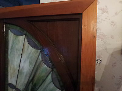 Vintage X-Large Early Centry Arched Stained Glass Window 3