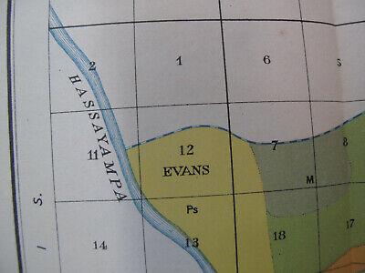 Color Soil Survey Map Buckeye Sheet Arizona Powers Butte Evans Gila River 1900 4