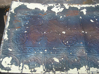 "GORGEOUS antique VICTORIAN tin ceiling pressed FLORAL fleur pattern 24.75"" x 48"""