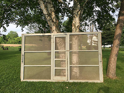 Antique Large Screened Barn Door Over 11' Wide Room Divider Art / Craft Display 3