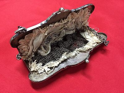 Antique Greek Pewter Womens Purse Alpacca Handbag Ladies Greece Grecia Peltro 6