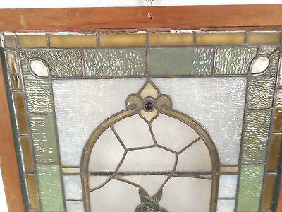 Vintage Stained Glass Window Panel (2939)NJ 6