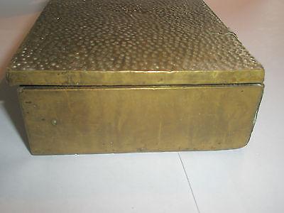 Vintage 1910 Apollo Studios NY Hammered Copper Arts & Crafts Wood Lined Desk Box 7