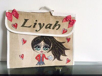 Personalised Hand Painted School Book Bags Nursery Bags Boys And Girls Music