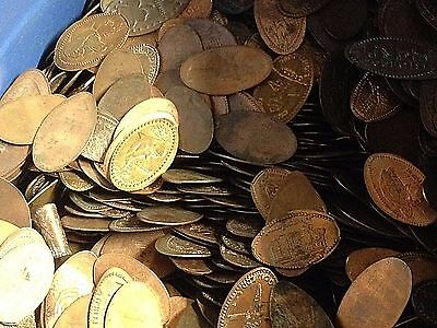 100 x Unsearched Elongated US Cents / Pennies - Large variety - Free Ship 2