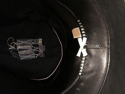 ... 6 of 10 RESISTOL Self-Conforming 20X BEAVER FELT BLACK GOLD WESTERN  COWBOY HAT LONG OVAL 7 2c9b1e0cef45