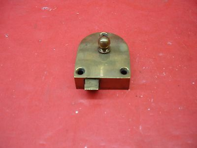 Vintage Antique Original Concealed Release Trigger Brass Latch Hardware 3