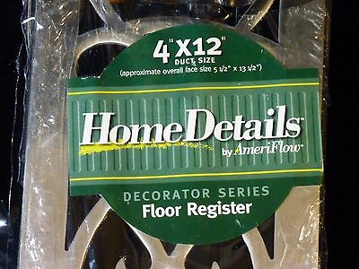 "NEW Replica Vintage Floor Register Grate Air 4""x12"" Home Details Ameriflow 3"