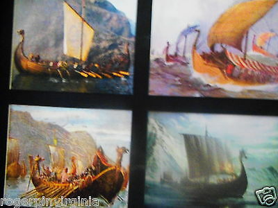 VIKINGS LONG SHIPS (6  MINIATURE Pictures in one Frame) 2