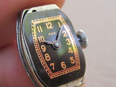 "WOW! NOS Art Deco Swiss Ladies'watch ""AXA""15j, -30s 5"