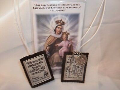 Brown Scapular Our Lady Mount Carmel Handmade & DURABLE- ALMOST UNBREAKABLE 3