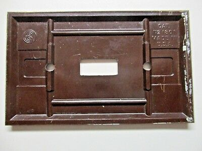 Sem Co 1801 USA Brown Bakelite Antique Switch Wall Plate Cover Fine Lines Dots 5