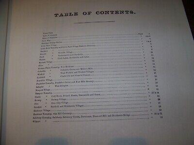 1868 Herkimer County Ny Atlas Map Fw Beers Little Falls Warren Ohio 1977 Reprint 2