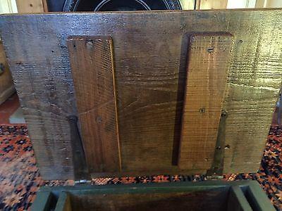 Early Six Plank Pine Footstool Storage Stool Sewing Storage Box 7
