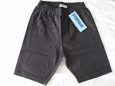 "Girls/Ladies Cycle Shorts BLACK sz L (34-36"" Waist) Cotton/Elastane UK Made NEW 3"