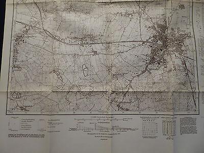 Landkarte Meßtischblatt 4356 Sorau i.d. Neumark / Zary, Linderode, von 1939