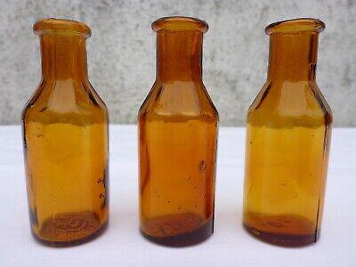 5 x alte braune Medizin Glas Apotheke Apotheker Flasche 20 ml ca. 7,5 cm braun 6