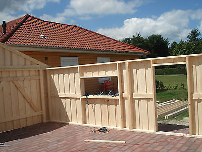 Fertiggarage Holz holzgarage mit satteldach fertiggarage geräteschuppen gartenhaus 4m