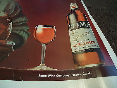 Poster Roma Wine & Saturday Evening Post Advertising Large Store Display Bread