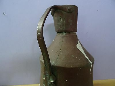 Antique Ottoman Copper Jug Pitcher Turkish Islamic Primitive Work Hand Made 6