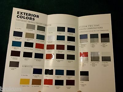 Mintmint 1994 Chevrolet Chevy Color Selector Chart Brochure Camaro
