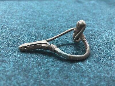 Antique Bronze Clasp Brooch 11