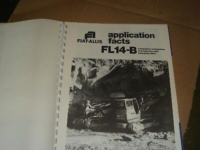 fiat allis fl9 fl10 b fl 14b fl16 b crawler loader dealers catalog manual 30 00 picclick fiat allis fl9 fl10 b fl 14b fl16 b