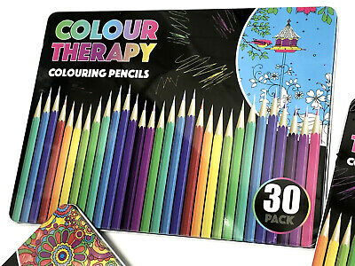 10 18 30 Premium Adult Colouring Pencils  Artists Quality Colour Therapy in Tin 3