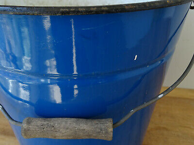 U2990 Esmalte Cubo - Shabby Chic - Esmaltada - Aprox. 10 Litro - Azul 2